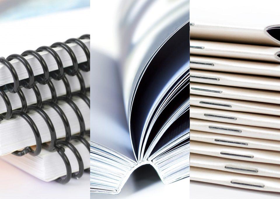 Imprimerie Paris, différents types de reliures